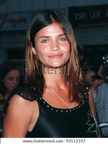 "09JUL98:  Supermodel HELENA CHRISTIANSEN at the world premiere, in Los Angeles, of ""There's Something About Mary."""
