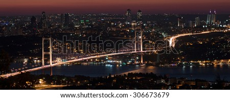 15 July Martyrs - Bosphorus Bridge at night