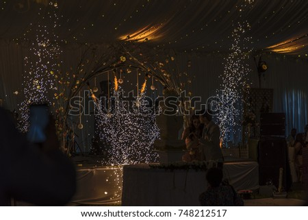 subdued lighting. Subdued Lighting. Dazzling Indoor Fireworks And Lighting Create A T