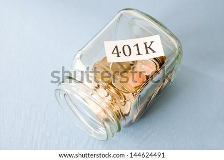 401 k  - stock photo