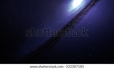 5K resolution Incredibly beautiful spiral galaxy somewhere in deep space. Elements of this image furnished by NASA. - stock photo