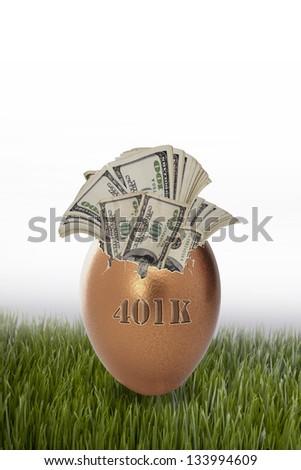 401K Retirement Nest Egg. - stock photo