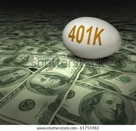 401k retirement savings dollars financial planning - stock photo