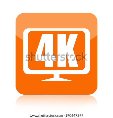 4K Ultra HD video icon - stock photo