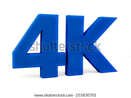 4K ultra high definition television technology logo icon isolated on white background. Ultra HD 4k  word - stock photo