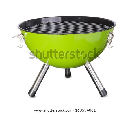 kettle barbecue grill isolated on white background