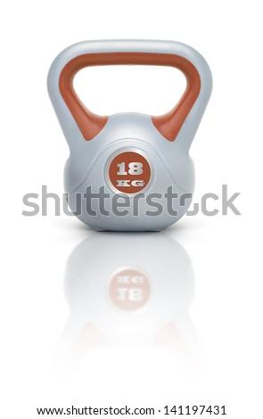 Kettlebell / Kugelhantel 18 kg mit Spiegelung  - stock photo