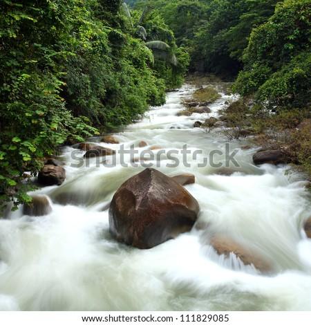 Khao Banjob Waterfall at chanthaburi, Thailand - stock photo