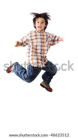 kid jumping - stock photo