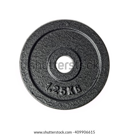 1.25 kilogram barbell weight - stock photo