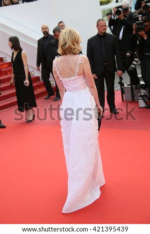 Kirsten Dunst attends the screening of 'Loving' at the annual 69th Cannes Film Festival at Palais des Festivals on May 16, 2016 in Cannes, France. - stock photo