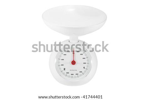 kitchen balance under the white background - stock photo