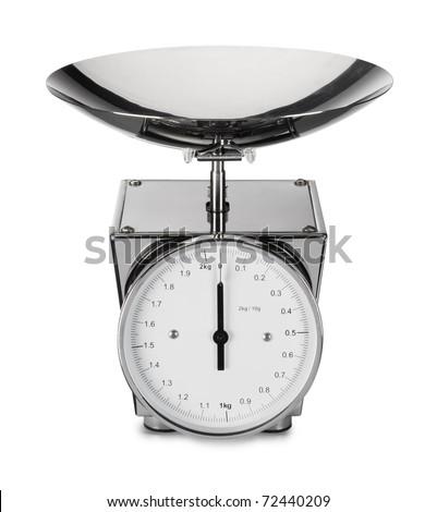 kitchen scales - stock photo