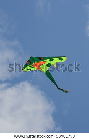 kite flying in the sky.