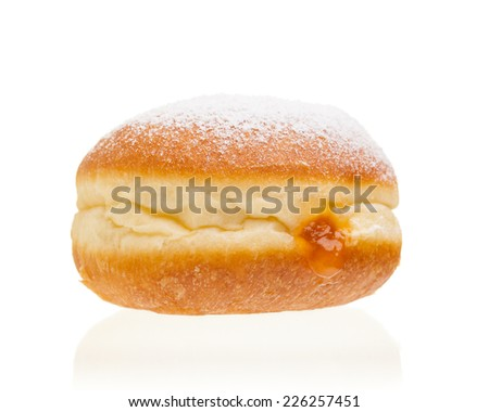 """Krapfen"" isolated on white background"