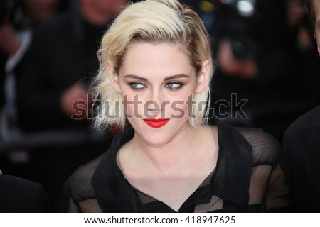 Kristen Stewart attends the 'Cafe Society' premiere and the Opening Night Gala during the 69th Cannes Film Festival at the Palais des Festivals on May 11, 2016 in Cannes, France. - stock photo