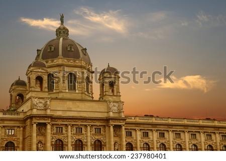 Kunsthistorisches Museum Vienna Austria - stock photo