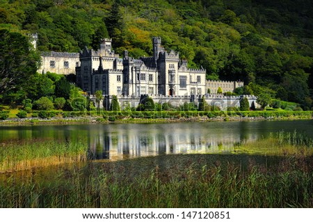 Kylemore Abbey in Connemara, County Galway, Ireland, Europe