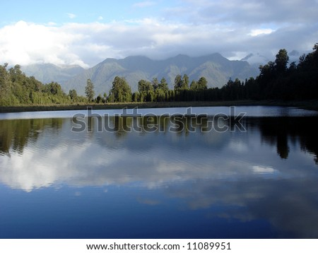 Lake Matheson - stock photo