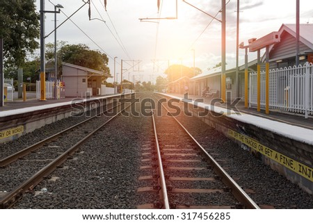 Lamb Queensland Brisbane train platforms - stock photo