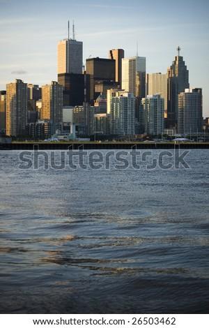 landscape with  toronto skyline /  modern city /  downtown - stock photo