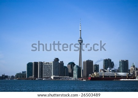 landscape with  toronto skyline /  modern city /  downtown