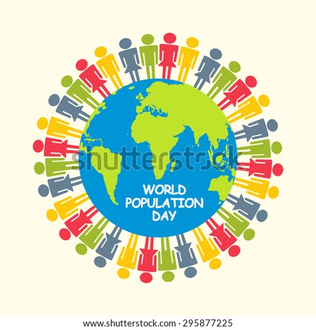 Large group of people gathered together.Population day. - stock photo