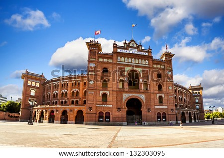 Las Ventas Bullring in Madrid, Spain - stock photo