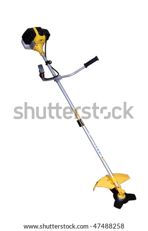 Lawn Mower isolated with clipping path - stock photo