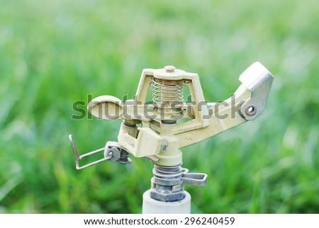 Lawn sprinkler - stock photo