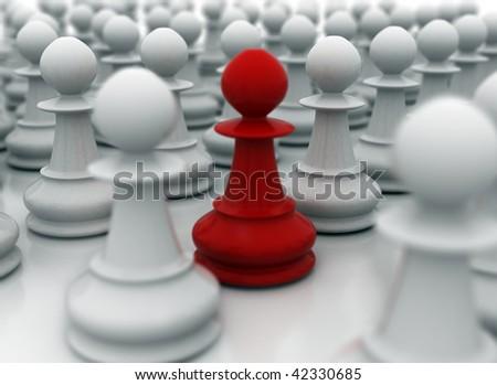 Leader - leadership illustration - stock photo