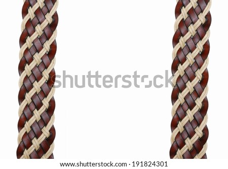 leather belt isolated  - stock photo