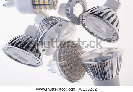 LED lights bulb - stock photo