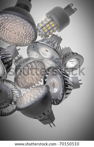 LED lights bulb - stock photo