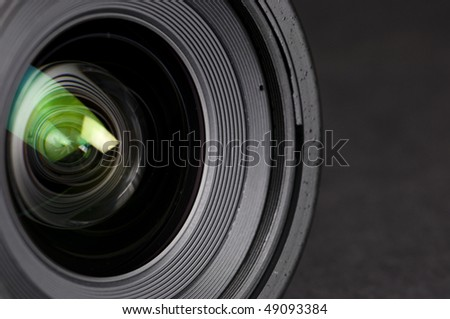 lens reflections - stock photo