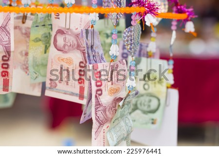 Let's go to the temple to pay respects to Buddha - stock photo