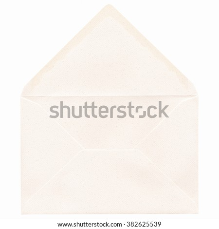 Letter or small packet envelope isolated over white vintage