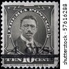LIBERIA - CIRCA 1920s: A stamp printed in Liberia shows Charles Dunbar Burgess King, circa 1920s - stock photo