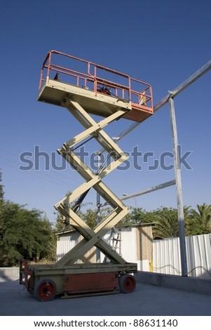 lifting machine - stock photo