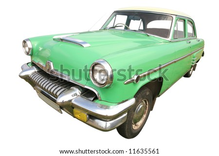 Old Car White Background Stock Images Royalty Free Images
