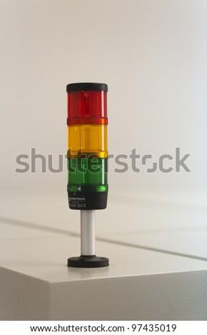light on machine - stock photo