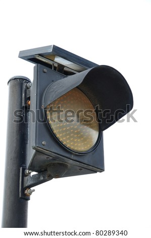 light signal for automobile, isolated on white - stock photo
