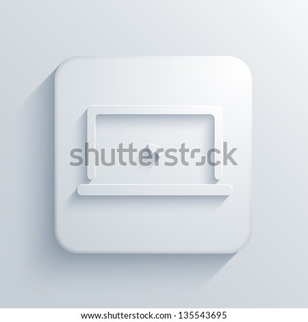 light square icon.  Jpeg version - stock photo