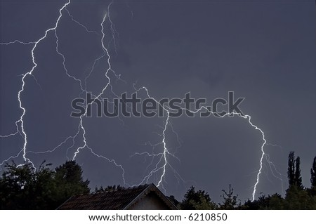 4 lighting - stock photo