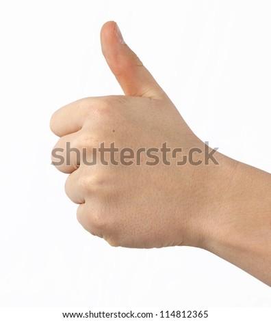 like thumbs up - stock photo