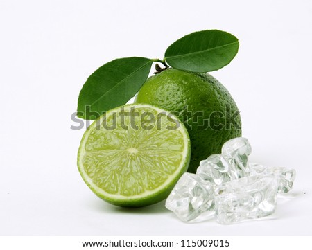Lime and ice - stock photo
