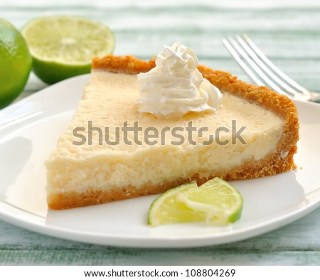 lime tart - stock photo