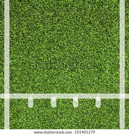 Line sport on Artificial green grass texture use for background - stock photo