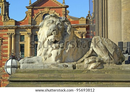 Lion, Leeds Town Hall - stock photo