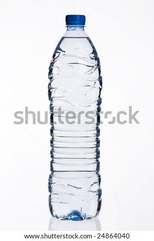 1,5 liter bottled water - stock photo